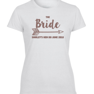 Hen Party – The Bride Tee – White